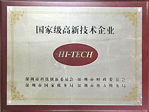 State-level high-tech enterprises